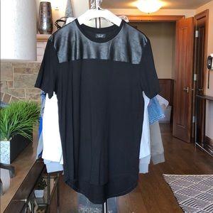 Zara Black Leather T-Shirt